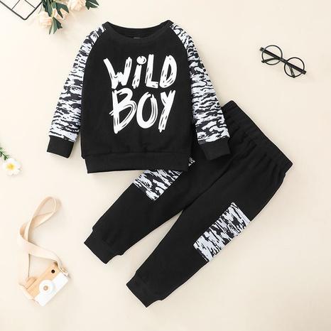 wholesale traje de dos piezas con letras de manga larga para niños Nihaojewelry NHLF384510's discount tags