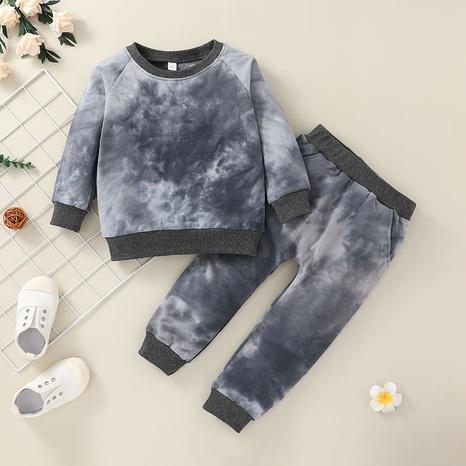 wholesale Pantalones de chándal de jersey para niños sencillos con teñido anudado, traje de dos piezas nihaojewelry NHLF384514's discount tags