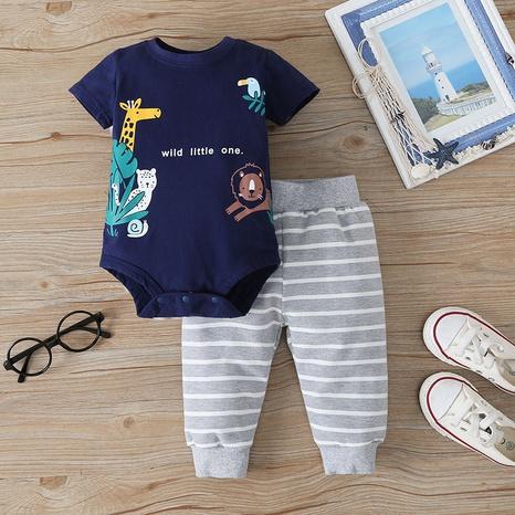 wholesale pantalones de mameluco de dibujos animados traje de dos piezas del bebé nihaojewelry NHLF384517's discount tags