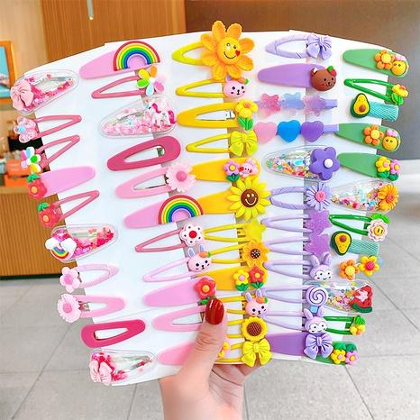 Conjunto de horquilla para niños de color caramelo con flores de animales de dibujos animados al por mayor de joyería Nihaojewelry NHNA383845's discount tags