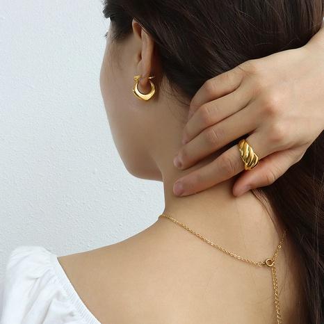 vente en gros bijoux boucles d'oreilles géométriques prismatiques en acier inoxydable Nihaojewelry NHJIE384719's discount tags