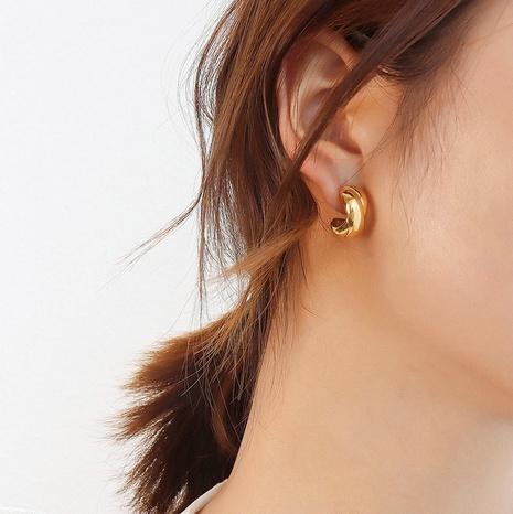 vente en gros bijoux croix conception en acier inoxydable or boucles d'oreilles OL Nihaojewelry NHJIE384720's discount tags