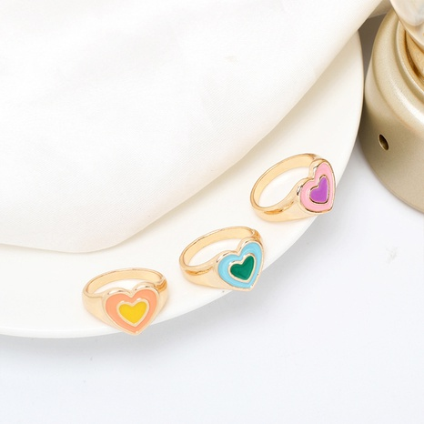 Vente en gros bijoux bague coeur géométrique Nihaojewelry NHRN384733's discount tags