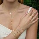 wholesale jewelry fashion snake microinlaid zircon copper necklace earrings Nihaojewelry NHUW384878