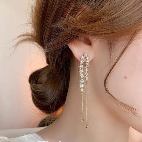 Vente en gros bijoux strass gland boule en métal boucles d'oreilles en cuivre nihaojewelry NHMS384928's discount tags