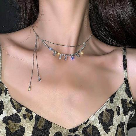 Vente en gros bijoux incrustés de diamants chaîne de gland collier multicouche en cuivre nihaojewelry NHMS384933's discount tags