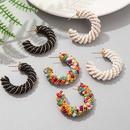 Wholesale Jewelry Bohemian Cshaped Rice Beads Geometric Earrings Nihaojewelry NHLA384968