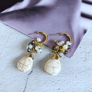 wholesale jewelry ethnic style turquoise glass beads insect shape earrings nihaojewelry  NHOM385089