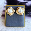 wholesale jewelry retro pearl heart geometric shape earrings nihaojewelry  NHOM385102
