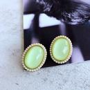 wholesale jewelry enamel glaze pearl resin geometric floral stud earrings nihaojewelry  NHOM385103