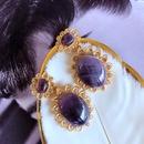 wholesale jewelry retro oval stone earrings nihaojewelry  NHOM385109