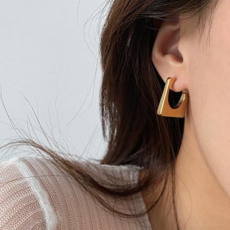 vente en gros bijoux boucles d'oreilles géométriques trapézoïdales en acier inoxydable Nihaojewelry NHJIE385171's discount tags