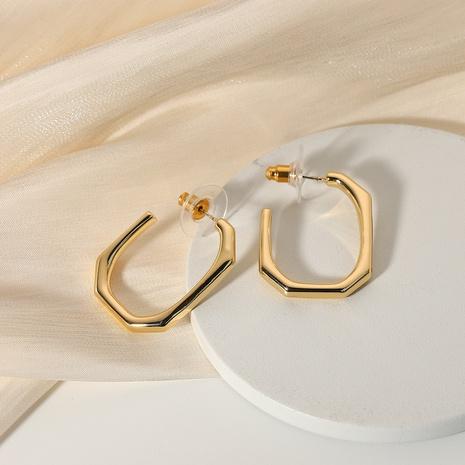 wholesale jewelry  U-shaped fashion alloy open earrings Nihaojewelry NHJIE385179's discount tags