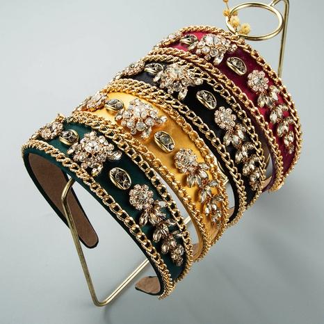 wholesale jewelry baroque chain shape inlaid rhinestone headband Nihaojewelry NHLN385262's discount tags