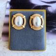 NHOM1784968-Oval-hollow-lace-pearl-earrings-2.82.5CM