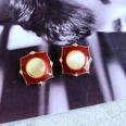 NHOM1784981-White-resin-red-drip-glaze-earrings-1.8CM
