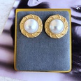 NHOM1784973-Round-lace-pearl-earrings-2.5CM