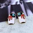 NHOM1784984-Rectangular-color-matching-drip-glaze-earrings