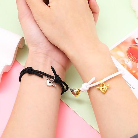 Al por mayor joyería de aleación de imanes de corazón pareja pulseras Nihaojewelry NHZR385370's discount tags