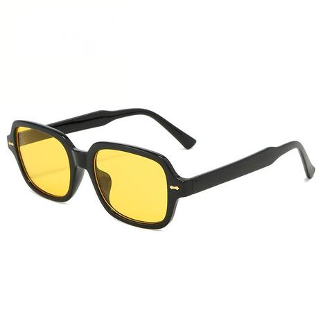 Vente en gros lunettes de soleil de couleur unie à monture carrée nihaojewelry NHZIH385431's discount tags