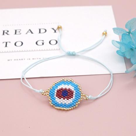 Nihaojewelry wholesale accessories ethnic style Miyuki beads woven blue eyes bracelet NHGW385428's discount tags