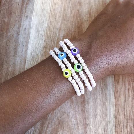 Nihaojewelry Wholesale Jewelry Ethnic Style Acrylic Yellow Eye Glass Soft Pottery Smiley Bracelet  NHYUZ385559's discount tags