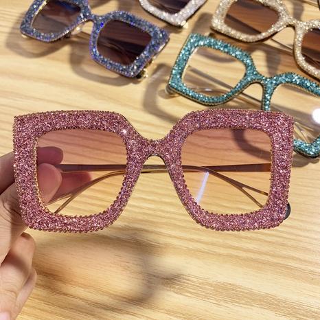 vente en gros monture carrée en métal incrusté de lunettes de soleil en diamant de couleur nihaojewelry NHMSG385835's discount tags