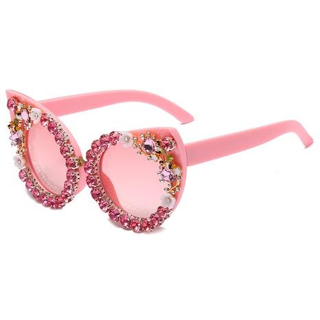 Vente en gros lunettes de soleil en œil de chat incrustées de diamants nihaojewelry NHMSG385836's discount tags