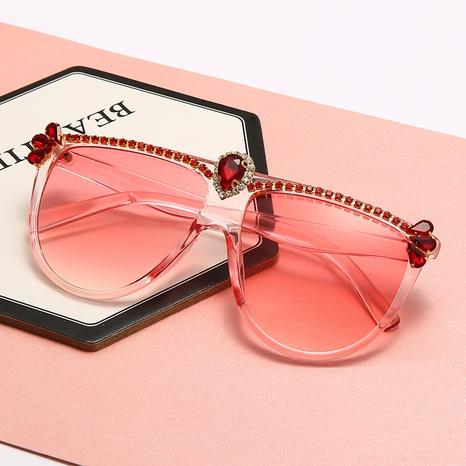 Vente en gros lunettes de soleil en pierres précieuses incrustées de diamants à grand cadre nihaojewelry NHMSG385834's discount tags