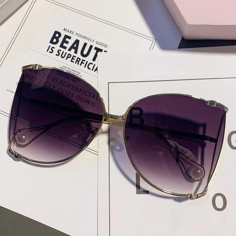 vente en gros lunettes de soleil à lentilles de couleur unie à grande monture nihaojewelry NHMSG385838's discount tags