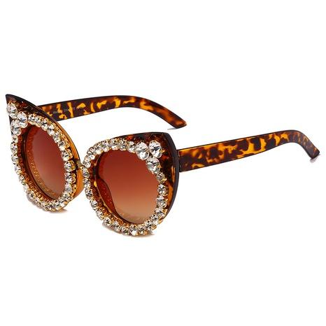 Vente en gros monture en forme d'œil de chat incrustée de lunettes de soleil en diamant nihaojewelry NHMSG385840's discount tags