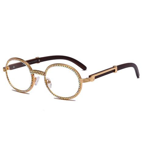 wholesale oval frame inlaid diamond sunglasses nihaojewelry  NHMSG385841's discount tags