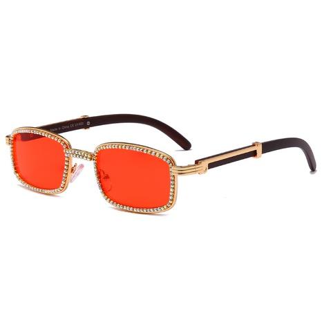 wholesale rectangular small frame inlaid diamond sunglasses nihaojewelry  NHMSG385842's discount tags