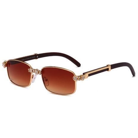 vente en gros petites lunettes de soleil rectangulaires incrustées de diamants nihaojewelry NHMSG385843's discount tags