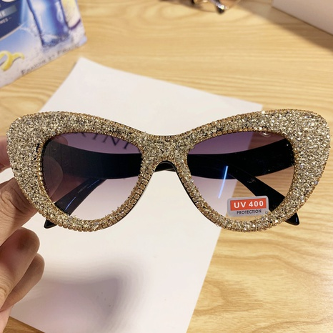 wholesale cat eyes frame color crystal sunglasses nihaojewelry  NHMSG385846's discount tags