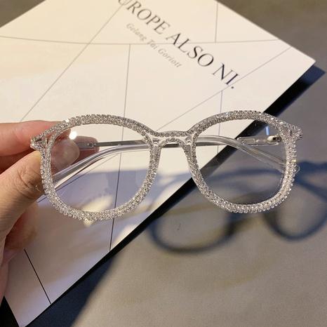 Vente en gros lunettes de diamant incrustées à monture ronde nihaojewelry NHMSG385847's discount tags