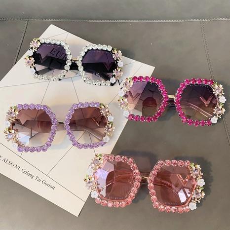 Vente en gros lunettes de soleil en diamant incrustées à monture polygonale nihaojewelry NHMSG385859's discount tags