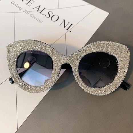 Vente en gros lunettes de soleil en diamant incrusté cadre yeux de chat nihaojewelry NHMSG385860's discount tags
