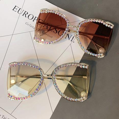 Vente en gros lunettes de soleil en diamant incrustées de lentilles de couleur nihaojewelry NHMSG385862's discount tags