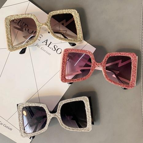 vente en gros lunettes de soleil de couleur transparente à grand cadre carré nihaojewelry NHMSG385866's discount tags