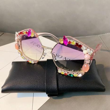 Vente en gros monture transparente polygone incrustée de verres gemmes nihaojewelry NHMSG385873's discount tags