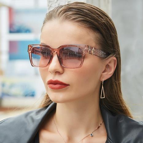 vente en gros grandes lunettes de soleil carrées transparentes nihaojewelry NHLMO385975's discount tags