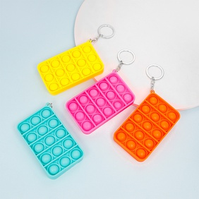Nihaojewelry Wholesale Accessories Finger Press Bubble Rectangle Keychain  NHAP385993