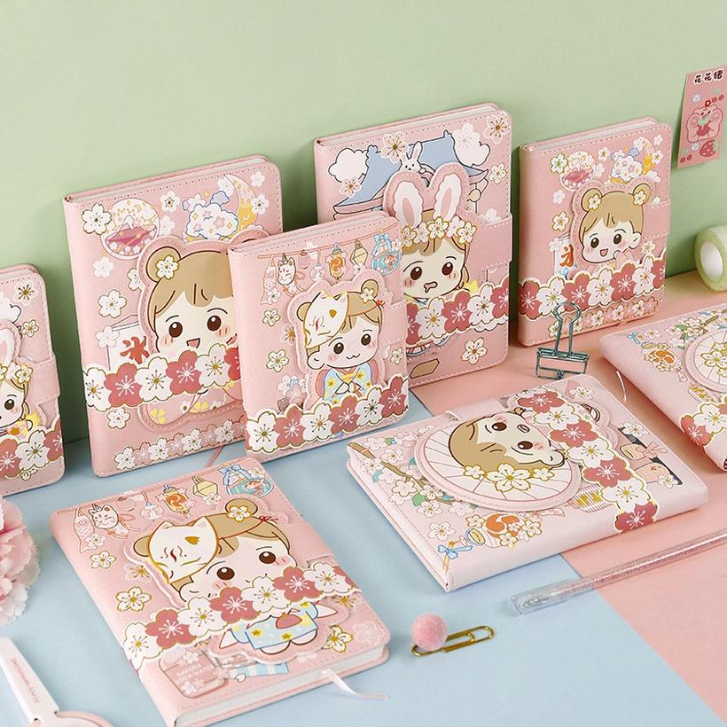 pink cute Korean journal notebook
