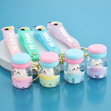 Gros chat macaron sable mouvant porte-clés surf chat dérive bouteille ornements dans huile pendentif clip poupée accessoires NHWQ386102's discount tags