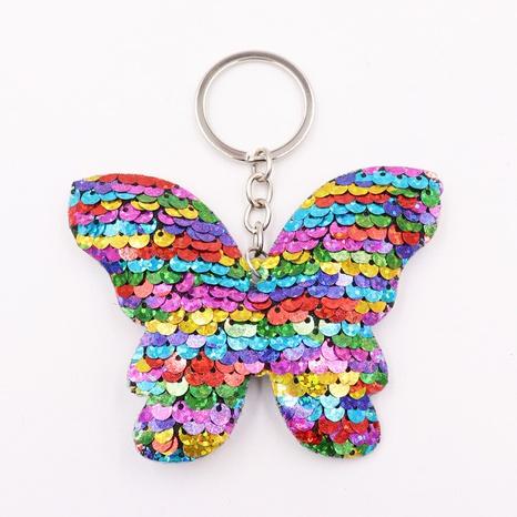 Porte-clés papillon à paillettes double face porte-clés arc réfléchissant sac Accessoires en gros NHWQ386097's discount tags