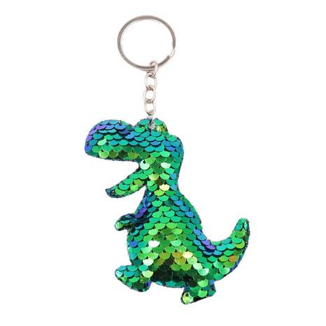 Gros sac de dinosaure à paillettes porte-clés réfléchissant double face dinosaure à paillettes porte-clés pendentif accessoires NHWQ386105's discount tags