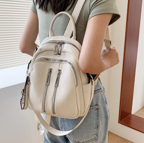 Nihaojewelry wholesale new trendy fashion soft leather messenger dual-use backpack   NHAV386132's discount tags