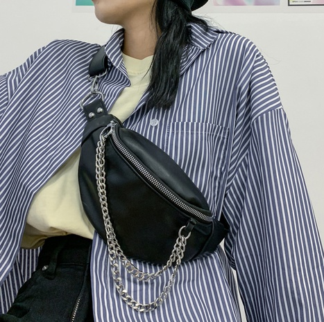 Nihaojewelry wholesale simple letter chain messenger chest bag  NHAV386135's discount tags
