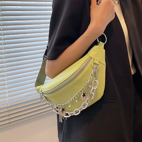wholesale solid color crossbody chest bag Nihaojewelry NHLH386236's discount tags